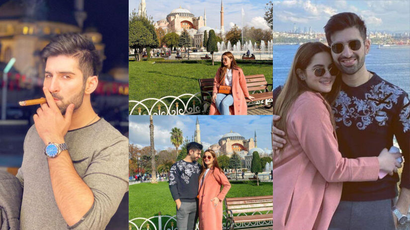 Aiman Khan and Muneeb Butt New Picture on Tour