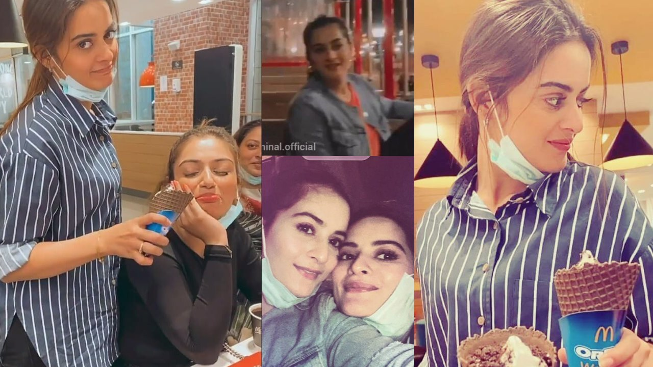 Aiman Khan and Minal Khan on Outing with Family
