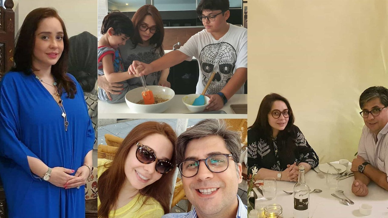 Juggan Kazim Latest Pictures with her Husband