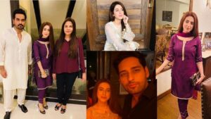 New Couple Salman Saeed and Aleena with Humayun Saeed