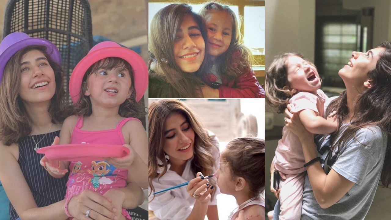 Syra Yousaf New Amazing pictures with her Daughter