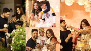 Hira Salman Celebrate the her Son Birthday with her Husband