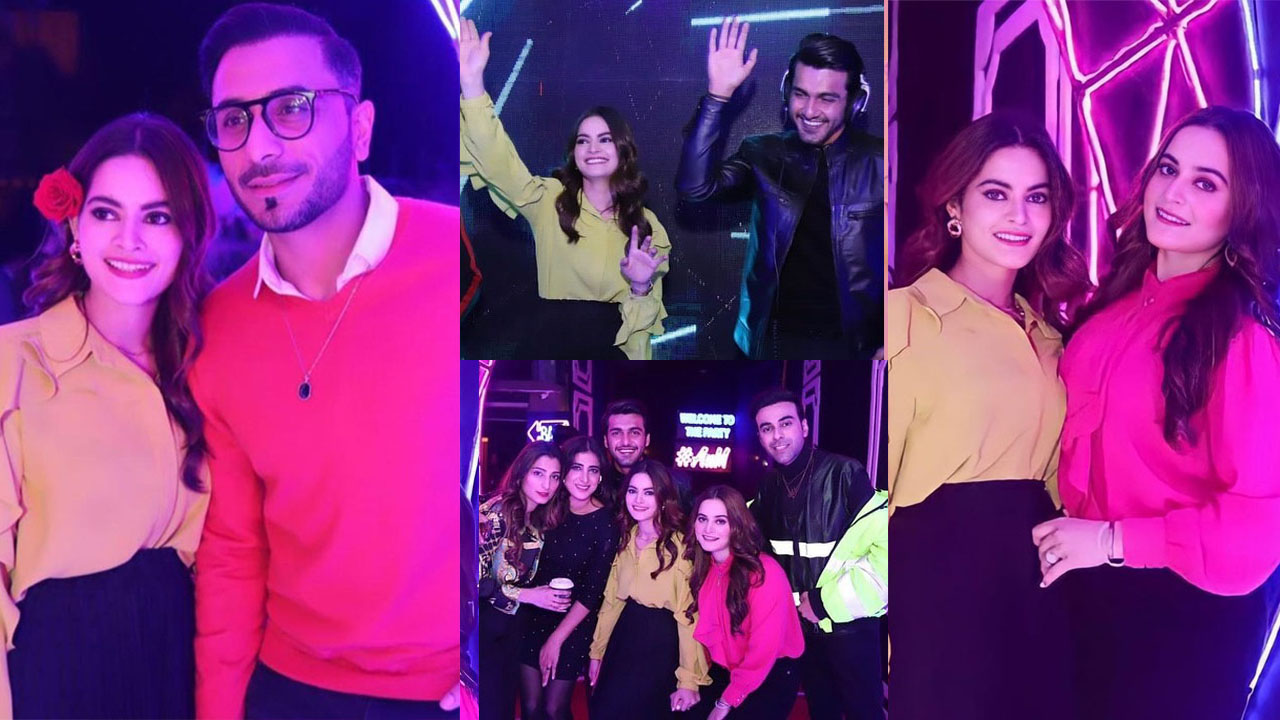 You are currently viewing Aiman Khan and Minal Khan on Night Party with Showbiz Friends