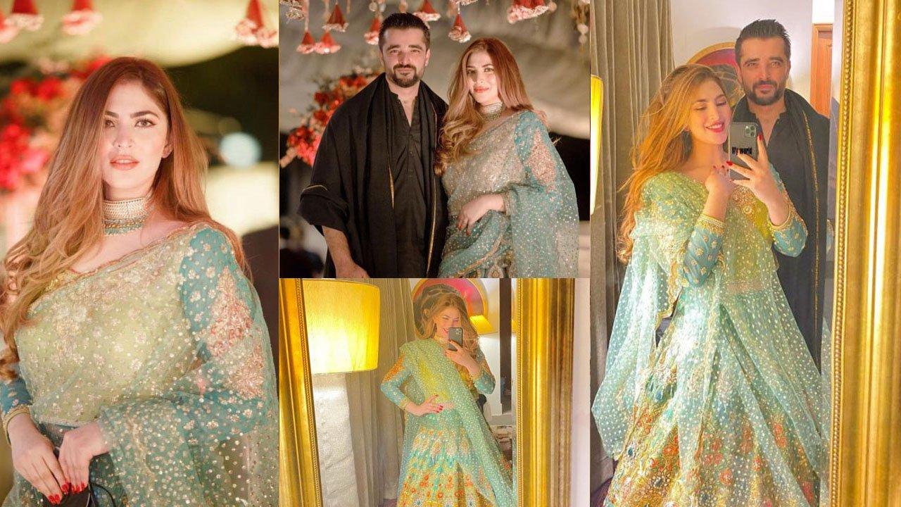 Naimal Khawar and Hamza Ali abbasi on Naimal's Sister wedding