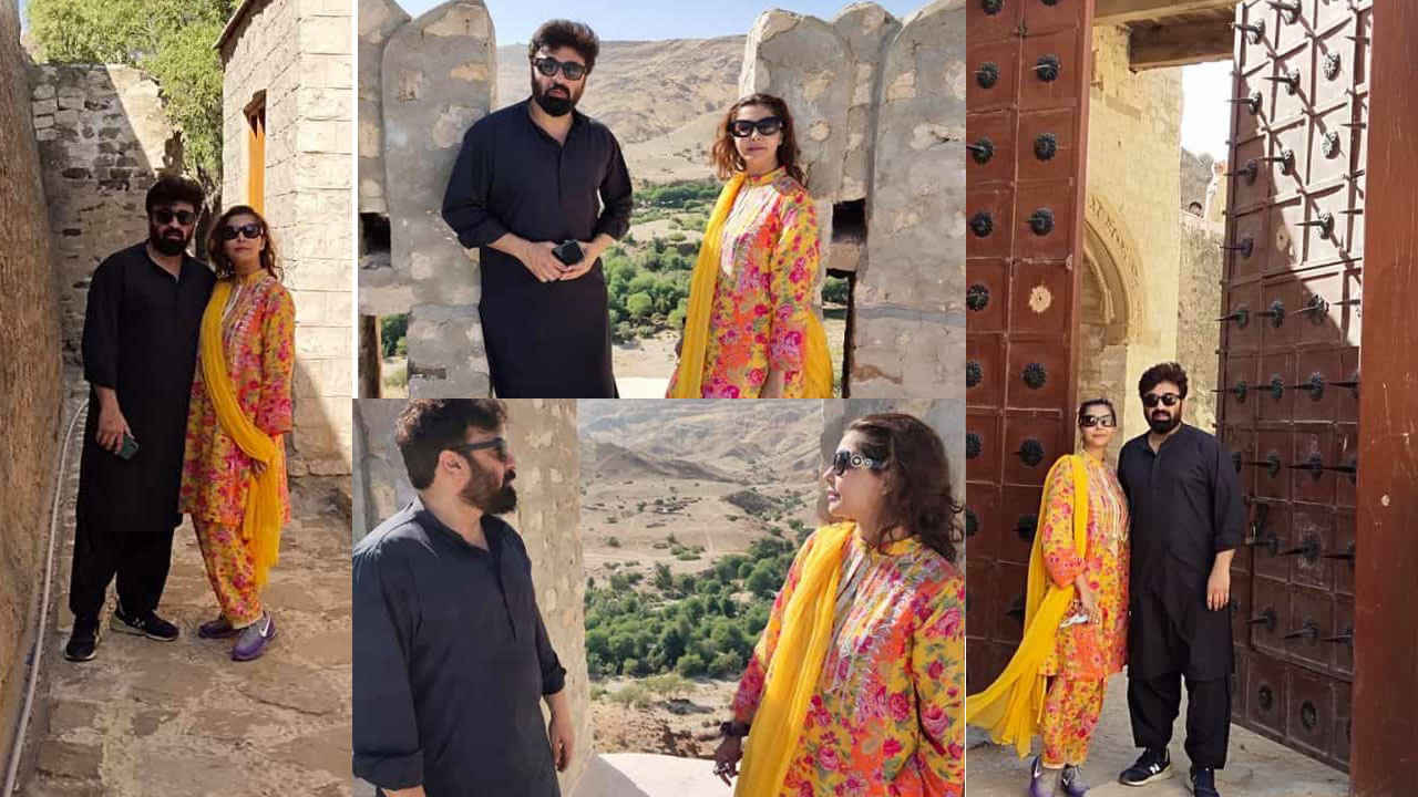 Nida Yasir and Yasir Nawaz Enjoying Holidays in Ranikot Fort