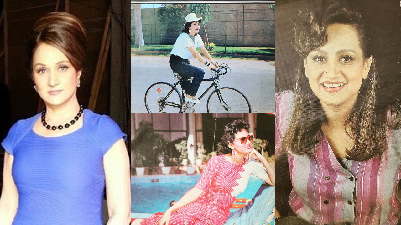 Bushra Ansari Share Some Old days pictures with a fan