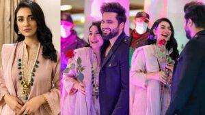 Beautiful clicks of Love Birds Sarah And Falak at Sattrangi Mall opening