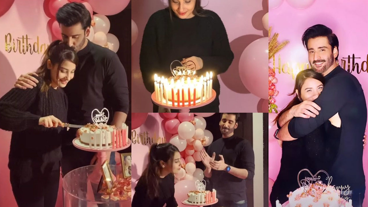 Hian Agha Celebrate her Birhtday with her Cute Husband Agha Ali
