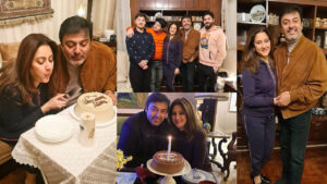 Noman Ijaz Celebrating her cute wife birthday