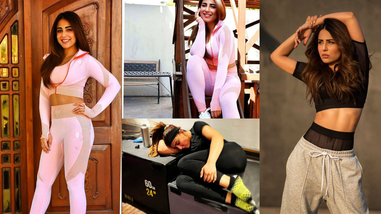 Ushna Actress Some Bold Pictures in Gym Workout