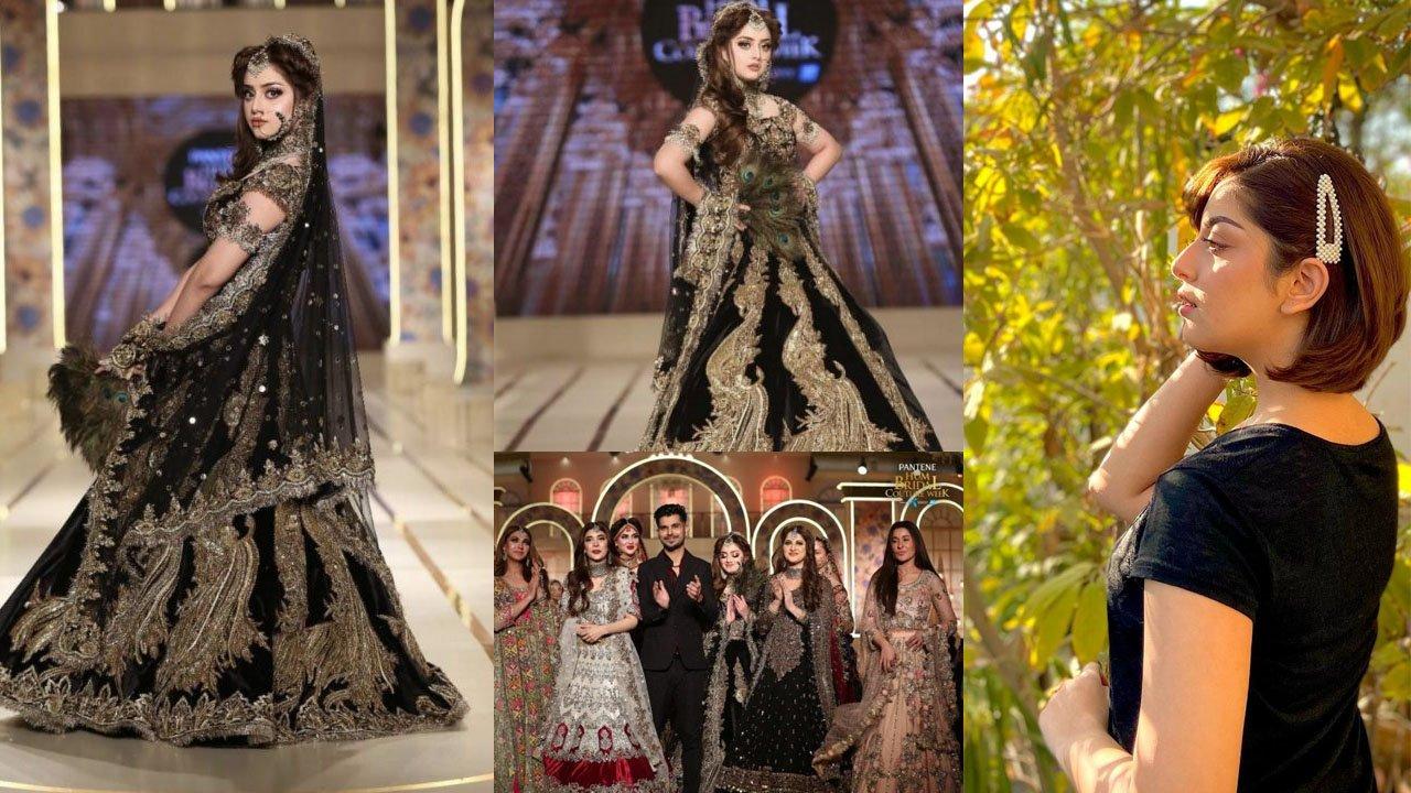 Alizeh Shah New Ramp walk Clicks in Balck Bridal Dress