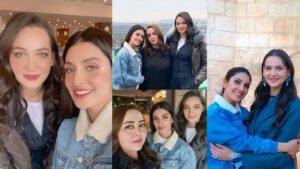Ayeza Khan New Clicks with Fashion Designer Maria B