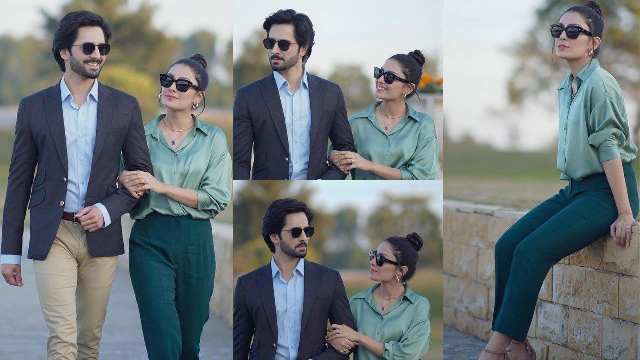 Ayeza Khan and Danish Taimoor Casual look