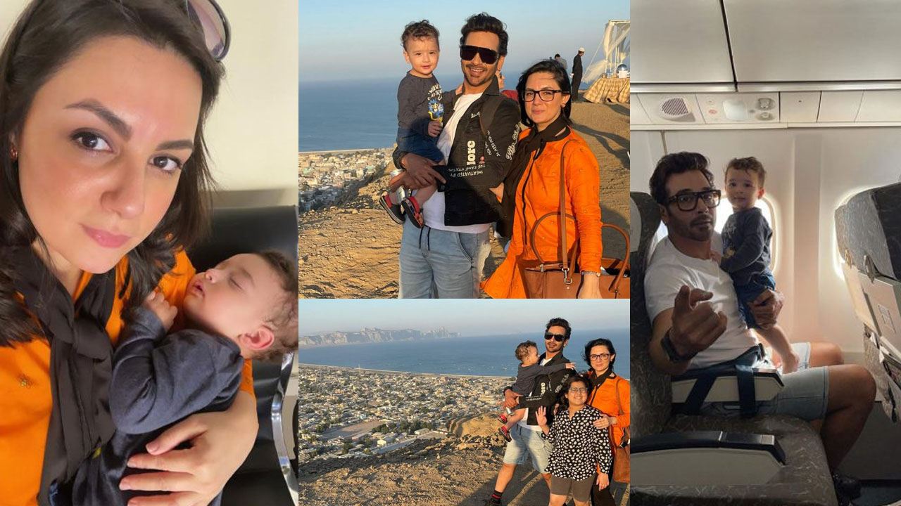 Faysal Qureshi New Lovely Clicks with lovely Wife and Son