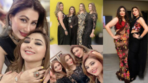 Javeria Saud the Enjoying Night Party with Friends