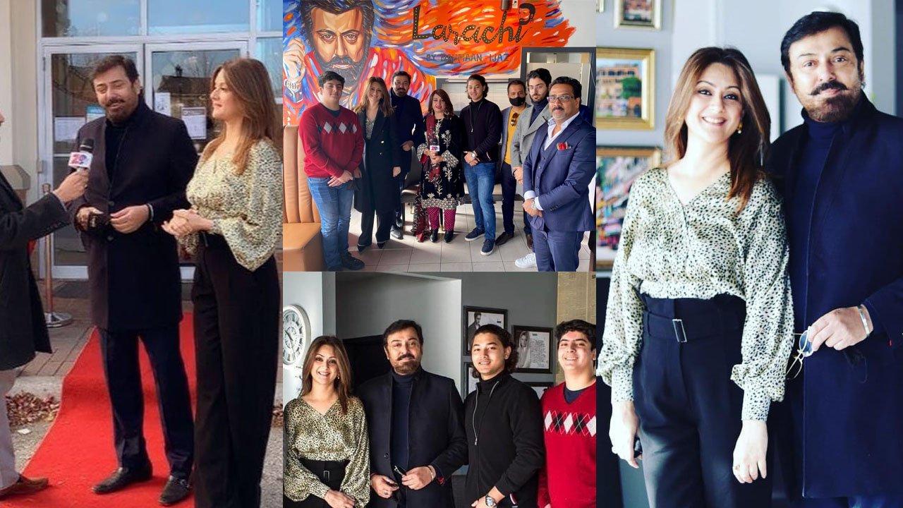 Noman Ijaz Open a New Restaurant family clicks