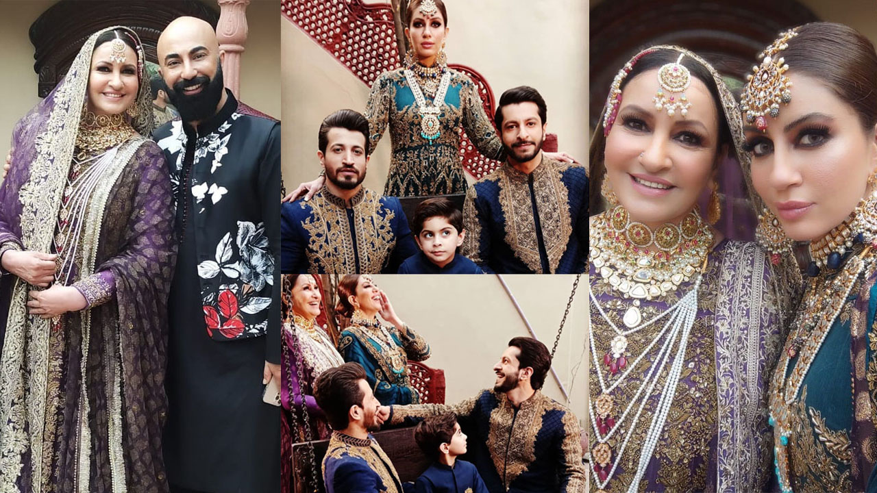 Saba Faisal Bridal Look with Daughter of HSY Collection