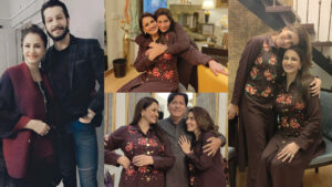 Saba Faisal with Family daughter and Son Lovely Clicks