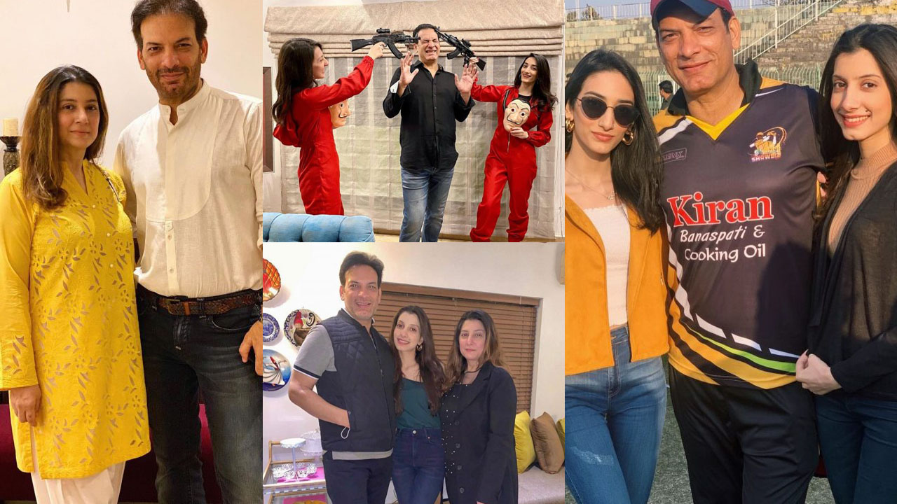 Saleem Sheikh New Pictures with daughter and Wife