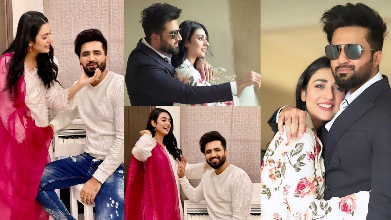 Sarah Khan and Falak Shabbir Romantic Clicks
