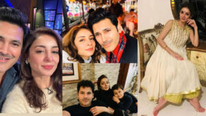 Sarwat Gilani Adorable Clicks with her Husband