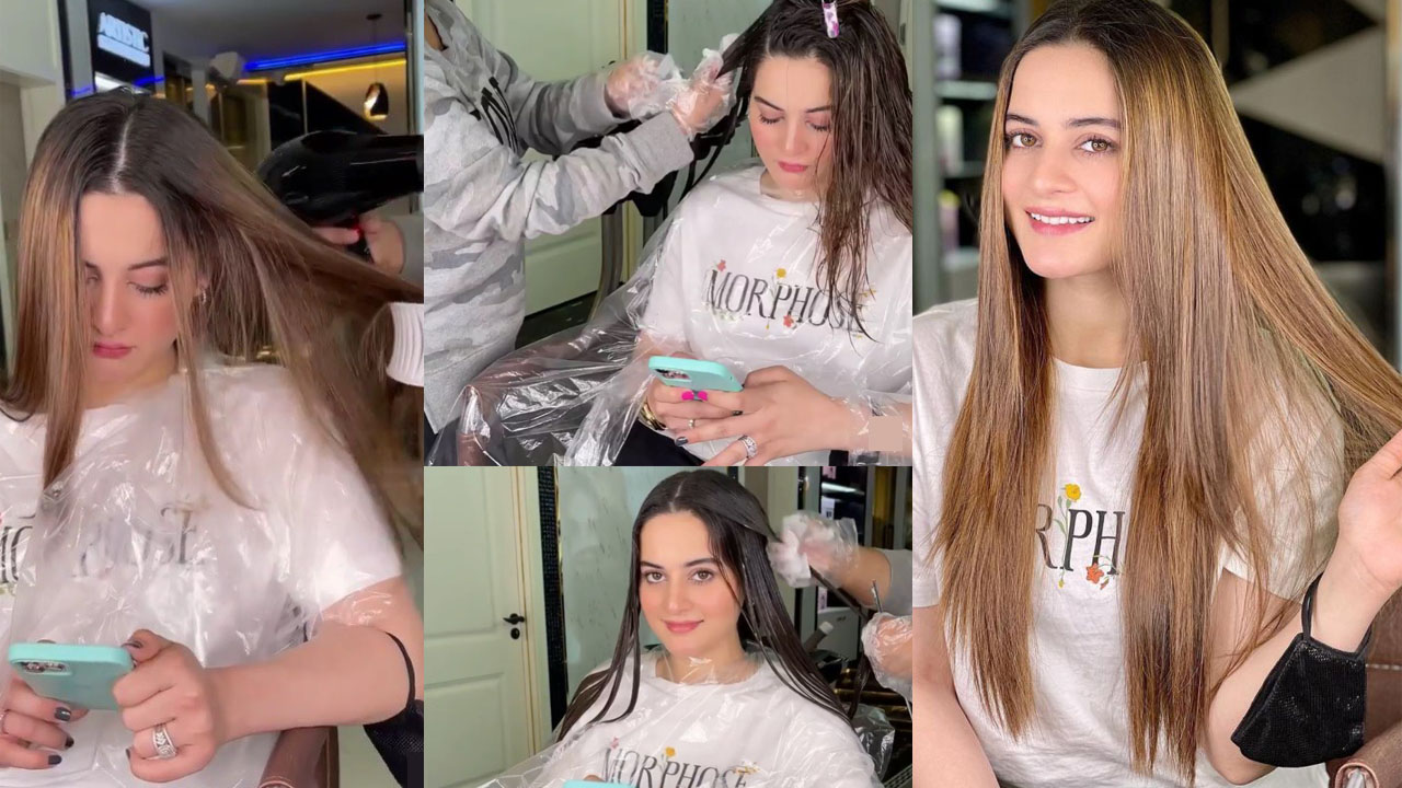 Aiman Khan Using New Color For Hair looking More Pretty