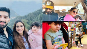 Aiman Khan and Muneeb Butt Enjoying in Mountain with Amal