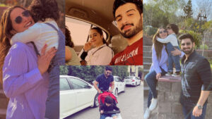 Aiman Khan and Muneeb Butt at Muree with Cute Amal