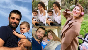 Naimal Khawar enjoying with her son and Family