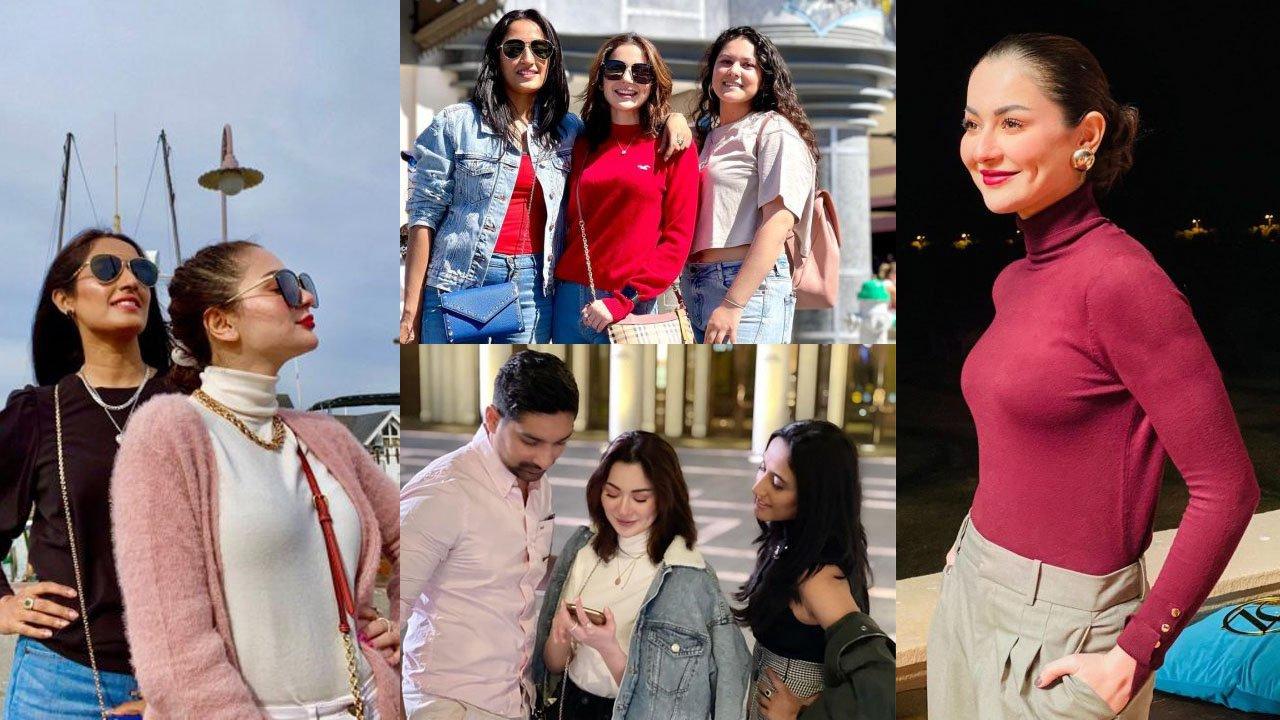 Hania Amir Enjoying with New Friends latest clicks