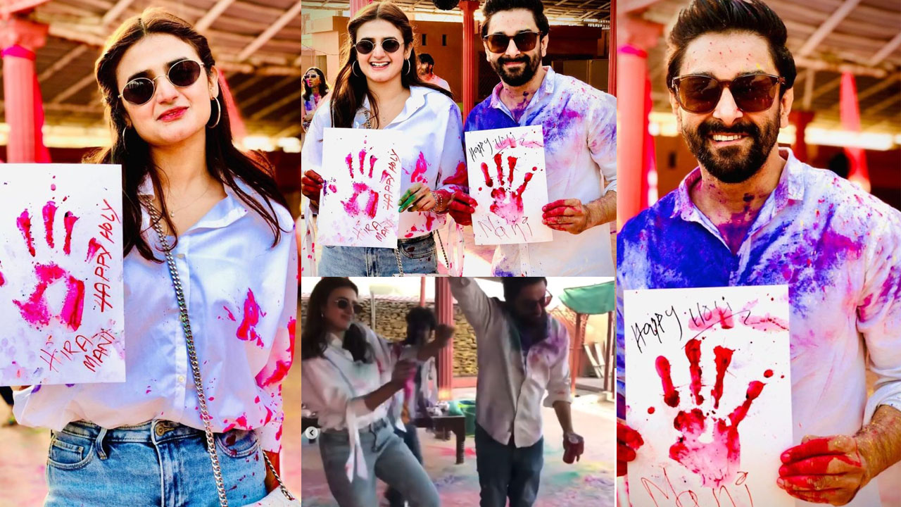 Hira Mani Celebrate the Holi Festival with Dancing