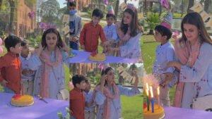 Hira Mani Celebrate her birthday with Shakut Khanam Child