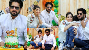 Imran Ashraf Celebrate his son 2nd Birthday with Most Lovely Wife Pictures