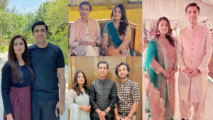 Iqrar Ul Hassan on relatives wedding with his 1st wife Adorable Pictures
