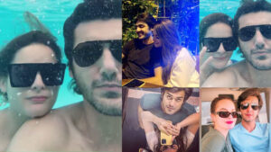 Minal Khan Enjoying with her Future Husband Moshin under the water