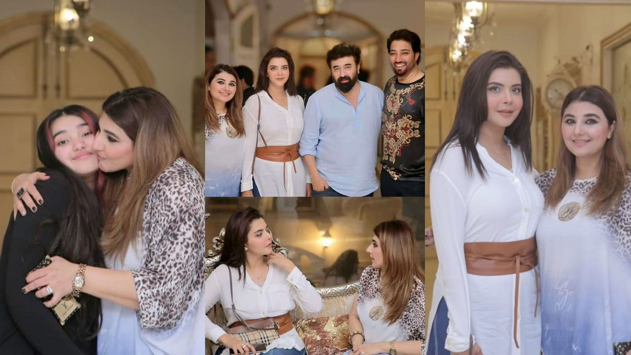 Nida Yasir at Javeria Saud House Party with Family Pictures