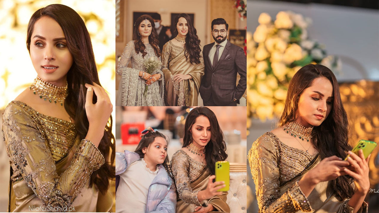 Nimra Khan looking smarter and Cute in relative wedding