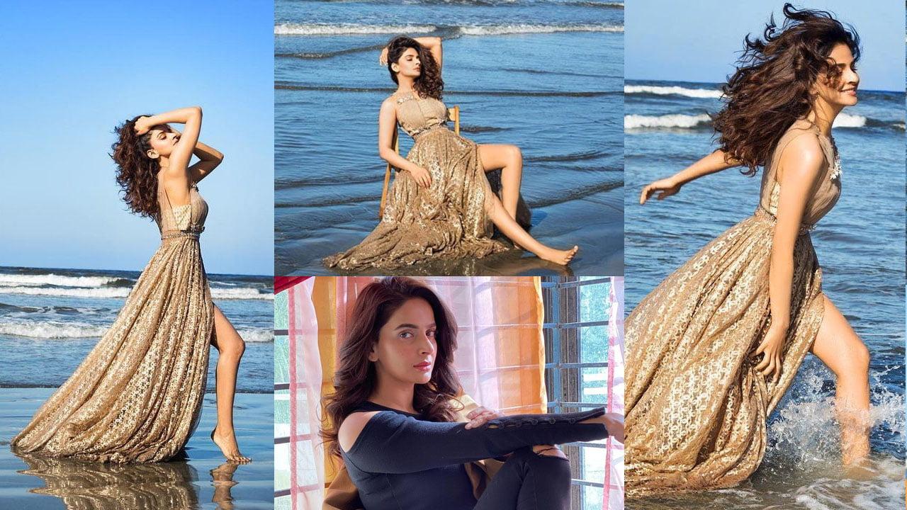 Saba Qamar Clicks some Bold Pictures at Beach