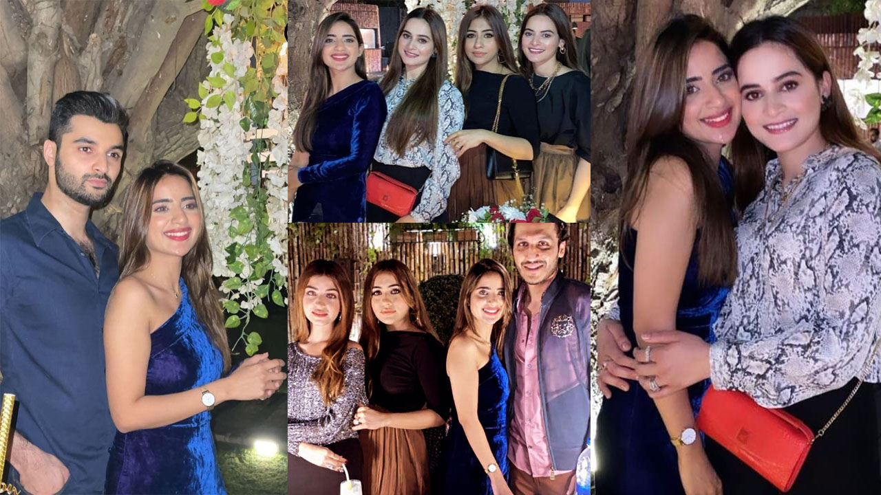 Saboor Aly Birthday Party Enjoying with Aiman Khan