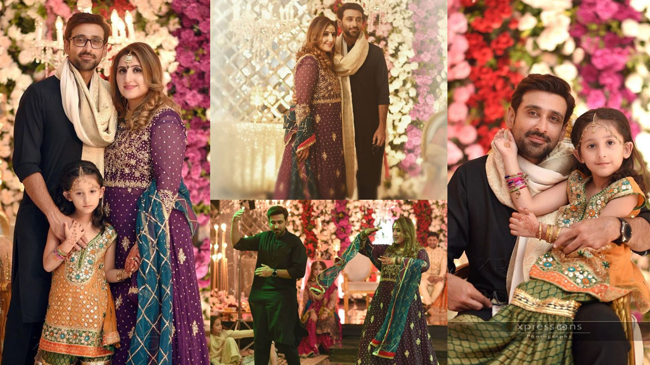 Sami Khan at Wedding with his Cute Daughter and Wonderful Wife