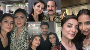 Sarwat Gilani with Rahat Fateh Ali Khan and Humayun saeed