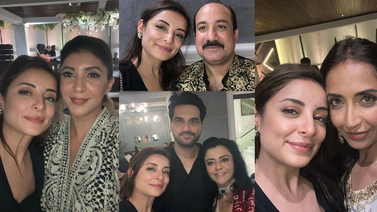 Sarwat Gilani with Rahat Fateh Ali Khan and Humayun saeed