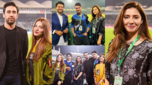Shahveer Jafry and Mahira Khan Supporting PSL
