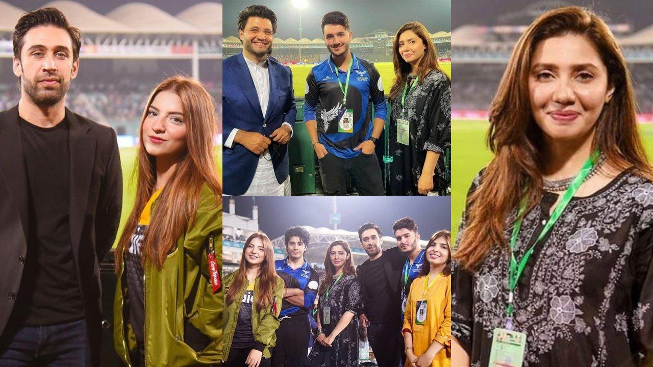 Shahveer Jafry and Mahira Khan Supporting PSL