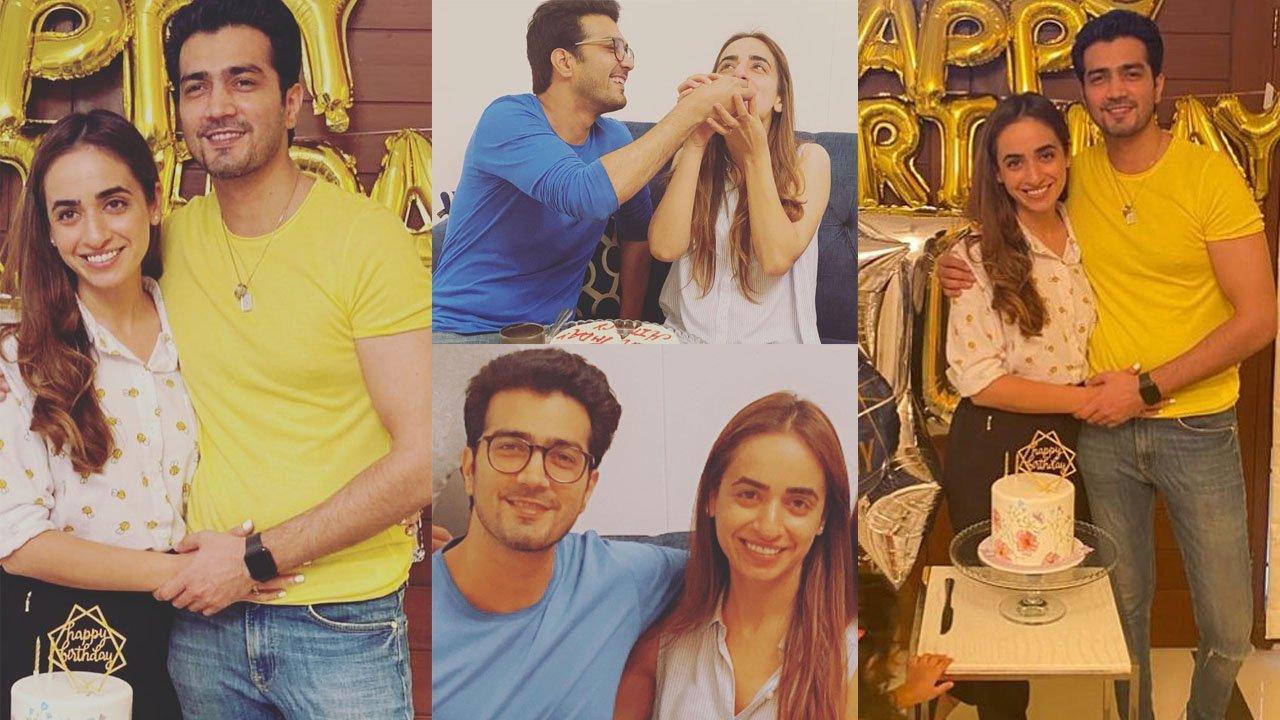 Shehzad Sheikh Celebrate his Birthday with Sweet Wife