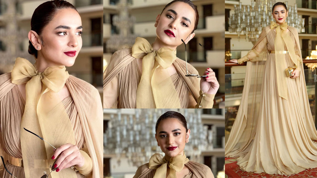 Yumna Zaidi Wearing a Princess dress Adorable Pictures