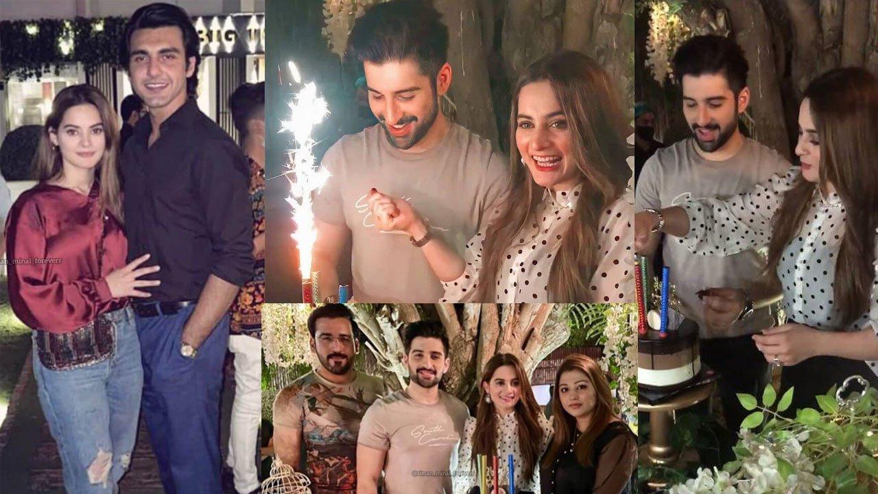 Aiman Khan Celebrating her Lovely Husband Muneeb Butt Birthday