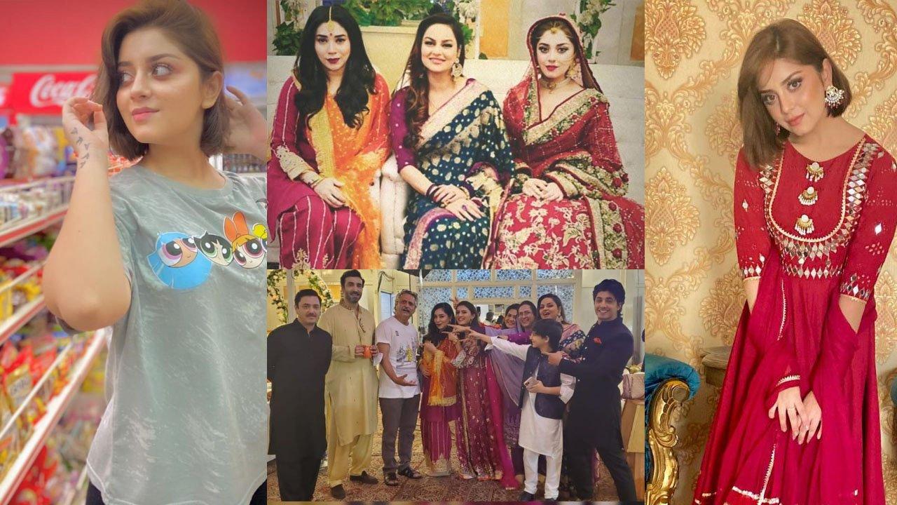 Actress Alizeh Shah lovely Clicks with Tana Bana Cast