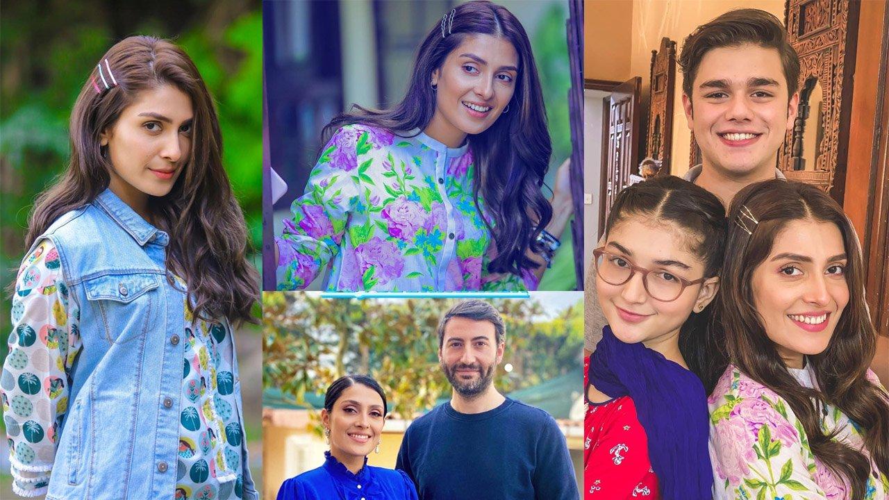 Actress Ayeza Khan Some Clicks with Drama Chupay Chupkay Cast