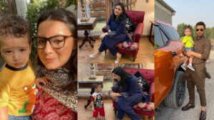 Faysal Qureshi New Clicks with His Young Wife and Children